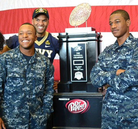 The Coaches' Trophy on the USS San Diego