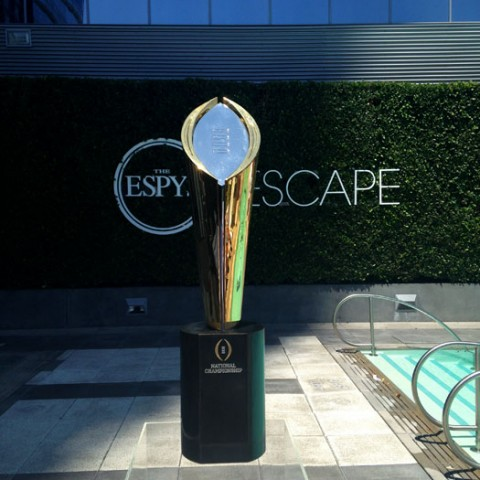 National Championship Trophy at ESPY's Escape Lounge